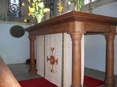 Alter in St Luke's Church Upper Broughton