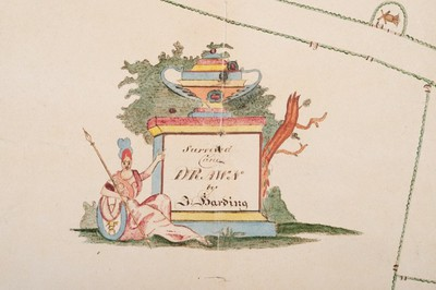 Detail from harding map legend c1820